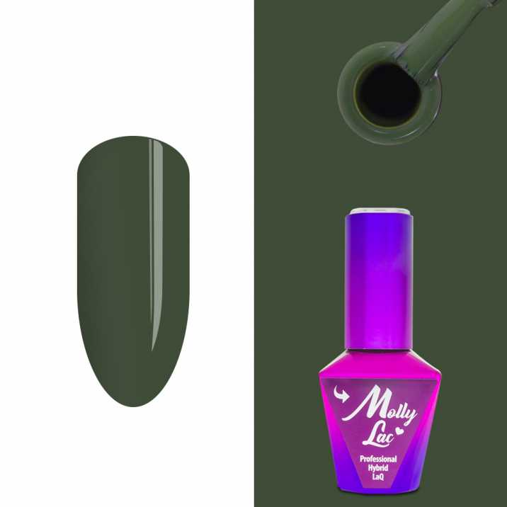 Outlet 371 Lakier hybrydowy Molly Lac Pure Nature Moss... 10ml Nr 107