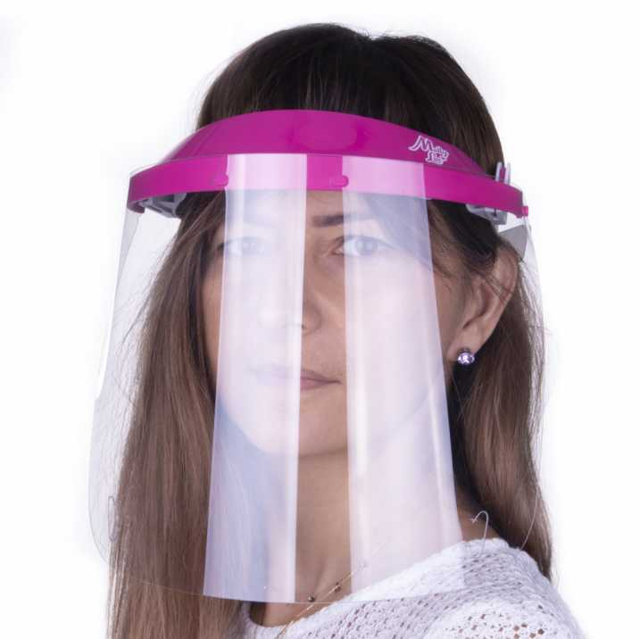 Helmet mask WM PRO tilting ultralight comfortable certified product Polish Dark pink - Gray