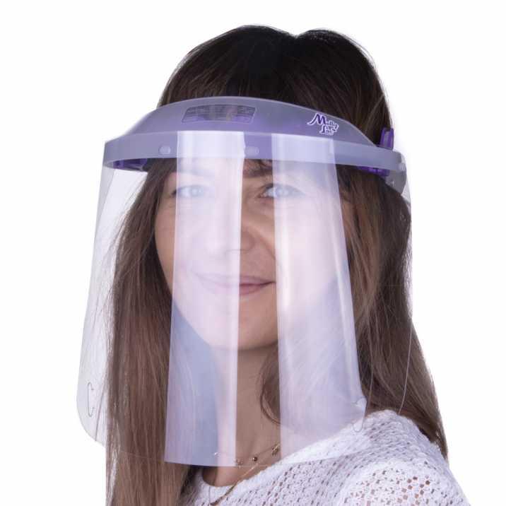 Helmet mask WM PRO tilting ultralight comfortable certified product Polish Transparent - Violet