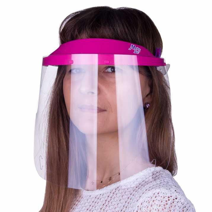 Visor WM PRO tilting ultralight comfortable certified product Polish Dark Pink - Violet
