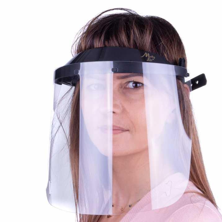 Przyłbica maska WM PRO uchylna ultralekka wygodna certyfikowana produkt polski Czarna