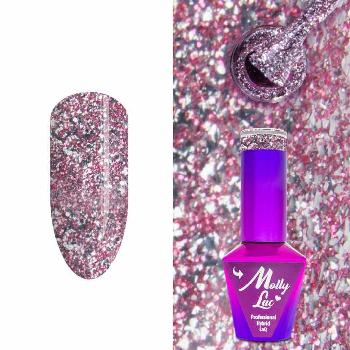 Hybrid lacquer Molly Lac Luxury Limited Gem & Silver Be Insane 10 ml No  151