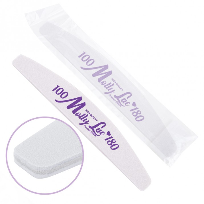 Double sided nail file Safe Package MollyLac boat standard - 100/180 CU-44